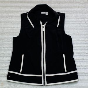 Zenergy by Chico's Black with White Trim Vest